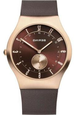 Bering Men's Classic Rose Gold Stainless Steel Milanese Mesh