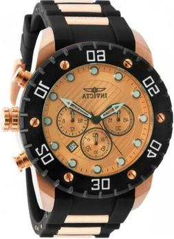 Invicta Men's Pro Diver Rose Gold Japan Chronograph Polyuret