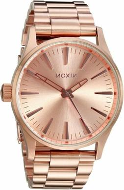 Nixon Men's Sentry 38 A450897-00 38mm Rose Gold Dial Stainle