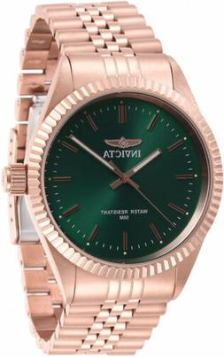 Invicta Men's Specialty 29391 Quartz 3 Hand Green Dial Watch