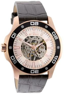 Invicta Men's Specialty 32516 45mm Rose Gold Dial Leather Wa