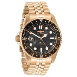 Invicta Men's Watch Pro Diver Black Dial Rose Gold Plated Br