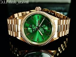 mens specialty jubilee quartz green dial rose