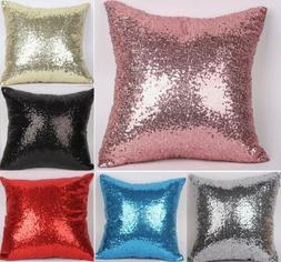 Mermaid Pillow Sequin Cover Glitter Sofa Waist Throw Cushion