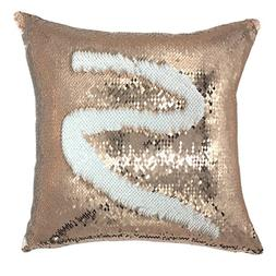YOUR SMILE Mermaid Throw Pillow Case Magic Reversible Sequin