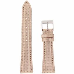 Metallic Rose Gold Pink Tone Watch Band Leather Strap Quick
