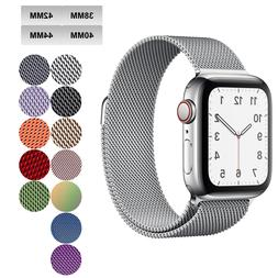 Milanese Loop Apple Watch Band For Series 1-5 38mm 40mm 42mm
