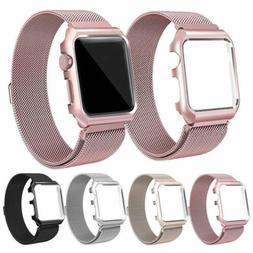 Milanese Stainless Steel iWatch Band Strap With Case For App