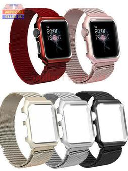 For Apple Watch Series 5/4/3/2/1 Milanese Stainless Steel Wa