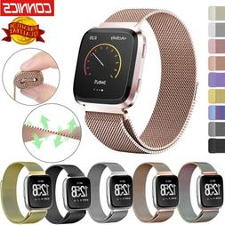 Milanese Stainless Steel Wrist Watch Band For Fitbit Versa 2