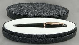 Duke Mini Black & Rose Gold Fountain Pen In Box - Fine Nib