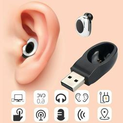 Mini Bluetooth Headphones Wireless In-Ear Heasets Earphone H