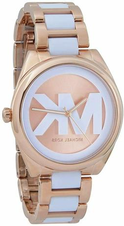 Michael Kors  Janelle Two Tone Rose Gold MK Face Watch