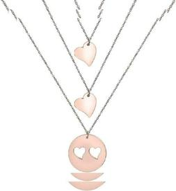 Zuo Bao Mother and Daughters Necklace Set- Mom Rose Gold-2 d