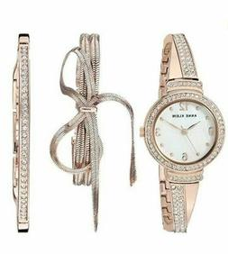 Anne Klein Mother Of Pearl Dial Ladies Rose Gold-Tone Watch