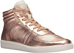 Dolce Vita Women's NATE Sneaker, Rose Gold Leather, 9.5 Medi