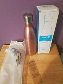 NEW ICONIQ 25OZ ROSE GOLD WATER BOTTLE STAINLESS STEEL VACUU