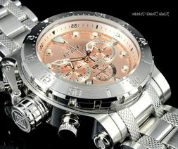 NEW Invicta 52MM CoalitionForces Rose Gold Tone Dial Silver