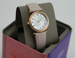 NEW AUTHENTIC FOSSIL LYRIC ROSE GOLD BLUSH PINK LEATHER WOME