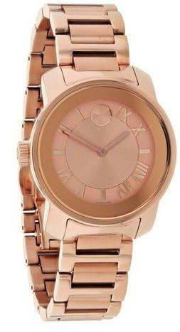 New Movado Bold Rose Gold-Tone Stainless Steel 32mm Women's