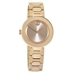 New Movado Bold Rose Gold Tone Stainless Steel Women's Watch