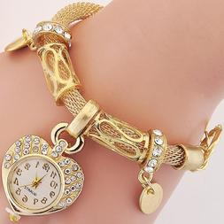 New Bracelet Wrist Watch for woman silver gold bangle band c