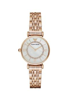 New Emporio Armani Classic Rose Gold Mother of Pearl Dial Wo