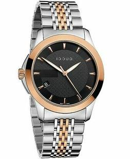 New Gucci G-Timeless Black Dial Two Tone Rose Gold YA126410