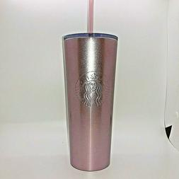NEW Starbucks Holiday 2018 Rose Gold Stainless Steel Cold Cu