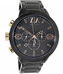 NEW Armani Exchange Men's Watch Black Rose Gold Stainless St