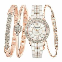NEW Anne Klein New York 12/2298RGST ROSE GOLD TONE Ceramic W