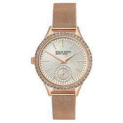 NEW Anne Klein New York 12/2306SVRG Women's Swarovski Crysta