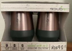 NEW Reduce Wine Tumblers - 2-Pack - Rose Gold - 12oz.