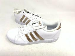NEW! Adidas Women's Baseline Sneakers White/Rose Gold #AQ078