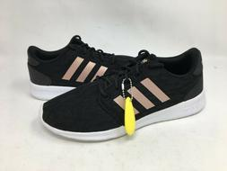 NEW! Adidas Women's Cloudfoam QT Racer Blk/Rose Gold Running