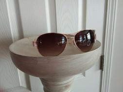 New Women's Juicy Couture rose gold Aviator Sunglasses, vaca