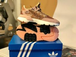 Adidas Nite Jogger Womens Rose Gold Sneakers size 6 Running