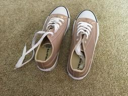 NWT Ladies Airwalk Metallic Textured Lace-up Rose Gold Sneak
