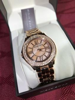 NWT Anne Klein Women's Rose Gold Diamond Wristwatch  Needs
