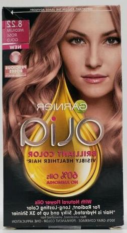 Garnier Olia Hair Color, 8.22 Medium Rose Gold, Ammonia Free