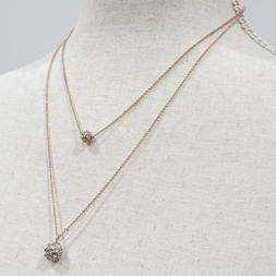 LOFT Outlet Women's Rose Gold Tone Fireball Layer Necklace N
