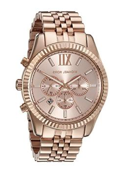 9780a6a557bd Michael Kors Oversize Rose Golden Stainless Steel Lexington