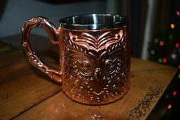 OWL COPPER ROSE GOLD MOSCOW MULE COCKTAIL DRINK MUG INSULATE