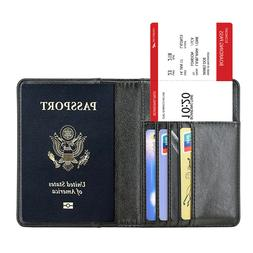 Mosiso Passport ID Card Cover Holder Premium PU Leather Prot