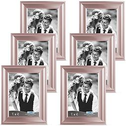 Icona Bay 5x7 Picture Frame , Rose Gold Photo Frame 5 x 7, W