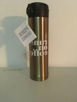 "Victorias Secret PINK Thermos Rose Gold Water Bottle NWT ""Ru"