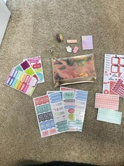 planner accessories lot With Rose Gold Pouch New Without Tag