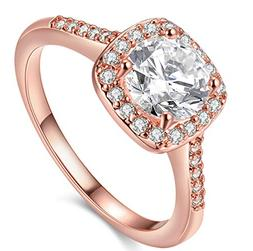pretty cut 18k rose gold plated shining