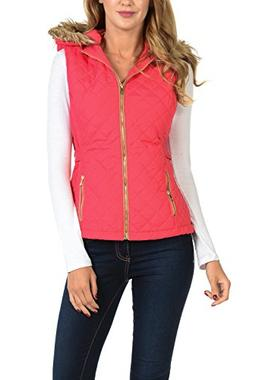 Auliné Collection Womens Quilted Zip Up Lightweight Padding
