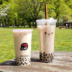 Reusable Eco-Friendly Bubble Tea Boba Cup with Stainless Ste